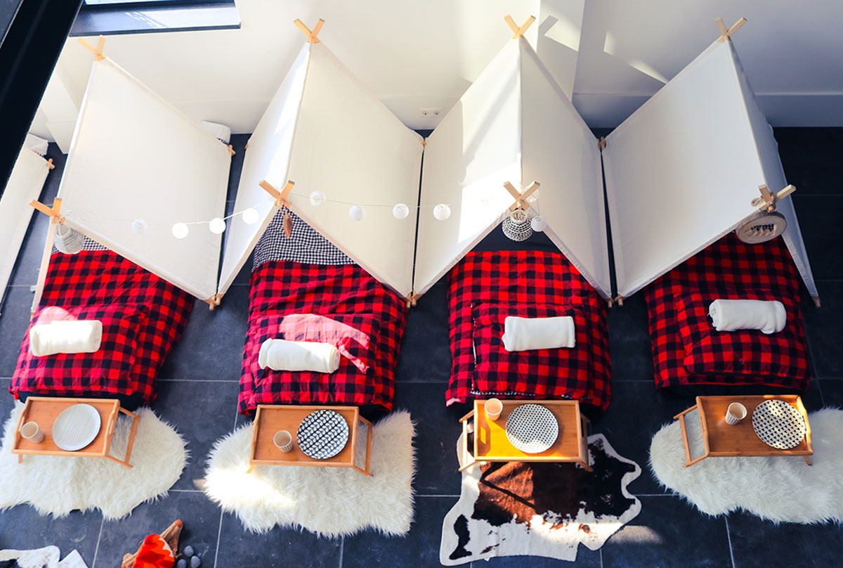 Betere Geef je eigen slaapfeestje in een tentenkamp! TG-23