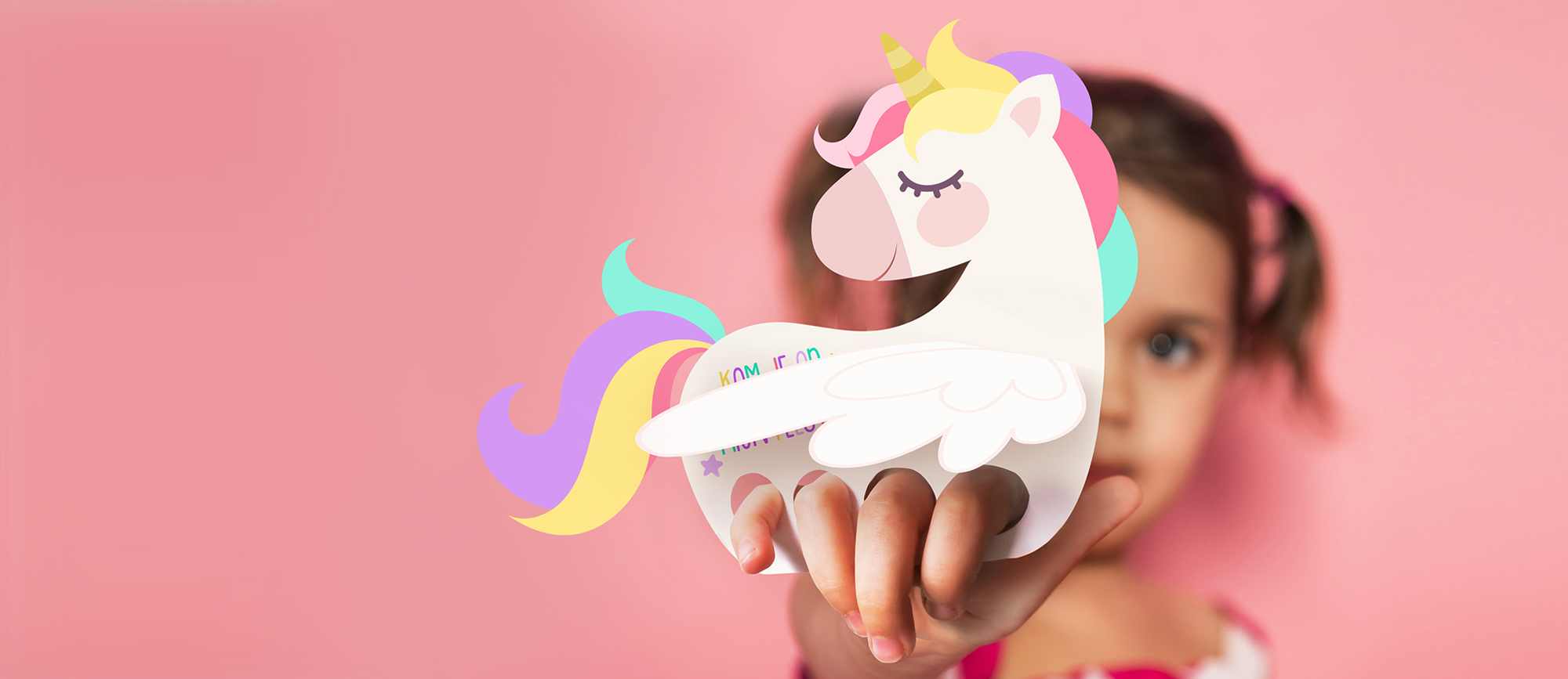 unicorn uitnodigingen  gratis te downloaden